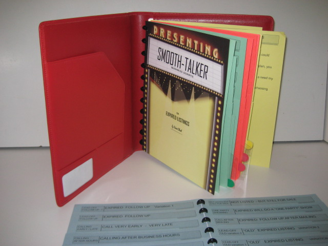 Multi-ring binder sales script.
